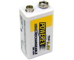 Powerex 230 mAh9.6v  PP3 NiMh Rechargeable Battery